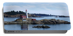 Fisgard Lighthouse Shoreline Portable Battery Charger by Marilyn Wilson