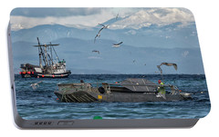 Portable Battery Charger featuring the photograph Fish Are Flying by Randy Hall
