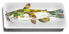 Fish Art Catfish Portable Battery Charger