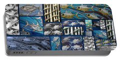 Fish Collage Portable Battery Charger