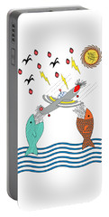 Fish Food Portable Battery Charger by Methune Hively