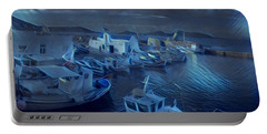 Fish Harbour Paros Island Greece Portable Battery Charger
