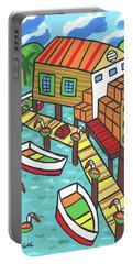 Fish House-cedar Key Portable Battery Charger