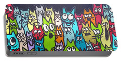 Fish Moon Cats Portable Battery Charger