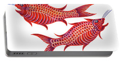 Fish Pisces Portable Battery Charger