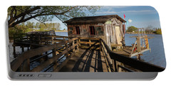 Portable Battery Charger featuring the photograph Fish Shack by Fran Riley