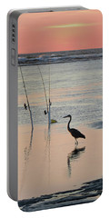 Fisherman Heron Portable Battery Charger by Deborah Smith