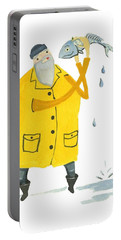 Fisherman Portable Battery Charger by Leanne WILKES