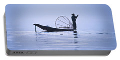 Fisherman On Inle Lake Portable Battery Charger