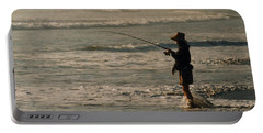 Portable Battery Charger featuring the photograph Fisherman by Steve Karol
