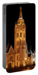 Portable Battery Charger featuring the digital art  Fishermans Bastion - Budapest by Pat Speirs