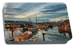 Portable Battery Charger featuring the photograph Fishermans Wharf by Randy Hall
