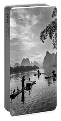 Fishermen At Dawn. Portable Battery Charger