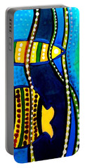 Portable Battery Charger featuring the painting Fishes With Seaweed - Art By Dora Hathazi Mendes by Dora Hathazi Mendes