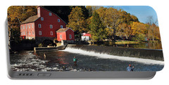 Fishing At The Old Mill Portable Battery Charger
