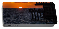 Fishing At Twilight Portable Battery Charger by Ed Clark