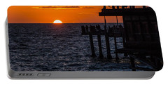 Fishing At Twilight Portable Battery Charger