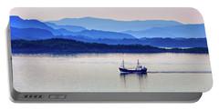 Fishing Boat At Dawn Portable Battery Charger