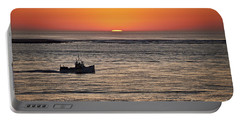 Fishing Boat At Sunrise. Portable Battery Charger