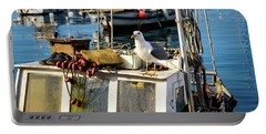 Fishing Boat Captain Seagull - Rovinj, Croatia Portable Battery Charger