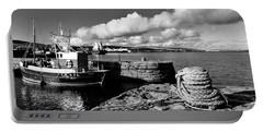Fishing Boat Lerwick Shetland Portable Battery Charger by Lynn Bolt