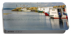 Fishing Boats At Feltzen South Portable Battery Charger by Ken Morris