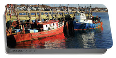 Fishing Boats At Provincetown Wharf Portable Battery Charger by Roupen  Baker
