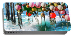 Portable Battery Charger featuring the photograph Fishing Buoys by Terri Waters