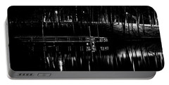 Portable Battery Charger featuring the photograph Fishing Dock At Night 2017  by Thomas Young