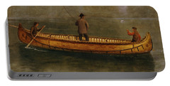 Fishing From A Canoe Portable Battery Charger by Albert Bierstadt