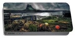 Portable Battery Charger featuring the photograph Fishing Gear At Lindisfarne. by Brian Tarr