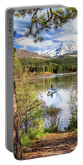 Portable Battery Charger featuring the photograph Fishing In Manzanita Lake by James Eddy