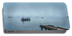 Fishing In The Fog Summersville Lake  Portable Battery Charger