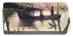 Fishing In The Sunset   Portable Battery Charger