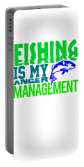 Fishing Is My Anger Management 1 Portable Battery Charger