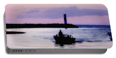 Portable Battery Charger featuring the photograph Fishing Lake Ontario  Lake Ontario  by Iconic Images Art Gallery David Pucciarelli