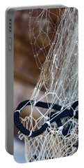 Fishing Net Details - Rovinj, Croatia Portable Battery Charger
