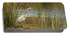 Portable Battery Charger featuring the photograph Fishing Oceano Lagoon by Art Block Collections