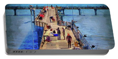 Fishing Off Galvaston Pier Portable Battery Charger