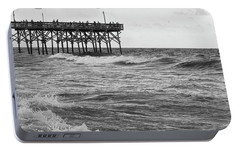 Portable Battery Charger featuring the photograph Fishing Off The Pier At Myrtle Beach by Chris Flees
