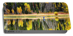 Fishing On Dream Lake Colorado Portable Battery Charger