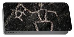 Fishing Petroglyph Portable Battery Charger