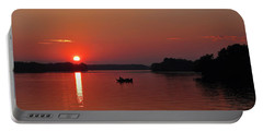 Fishing Until Sunset Portable Battery Charger