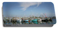 Fishing Vessels At Galilee Rhode Island Portable Battery Charger