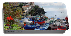 Fishing Village On The Island Of Madeira Portable Battery Charger