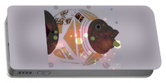 Portable Battery Charger featuring the mixed media Fishy 2 by Ann Calvo