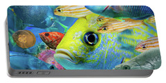 Fishy Collage 02 Portable Battery Charger