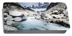 Fitz Roy On A Cloudy Day  Portable Battery Charger