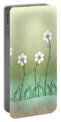 Five Days Of Daisies Portable Battery Charger