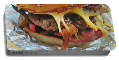Portable Battery Charger featuring the photograph Five Guys Cheeseburger by Robert Knight